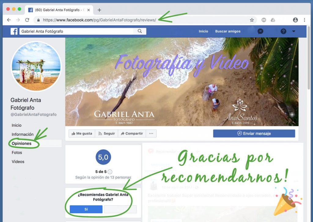 Recomendación Facebook